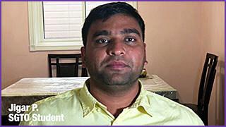 SGTO Student Testimonial Jigar P.